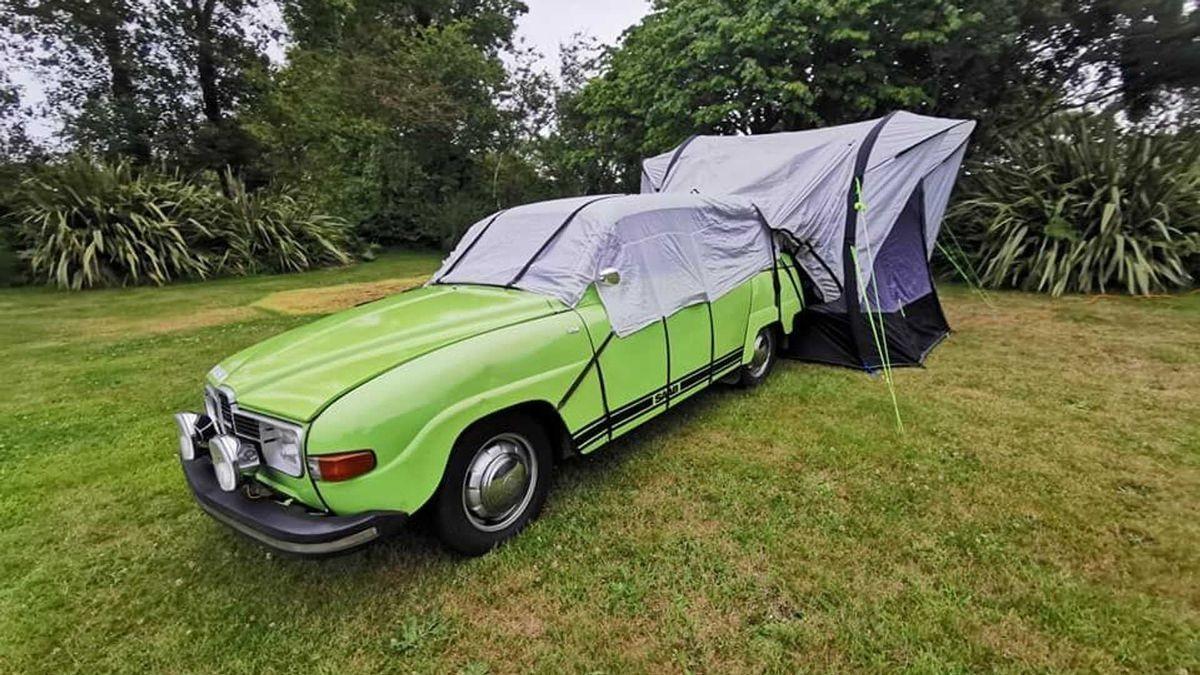 Очаровательный кемпер на базе Saab 1975