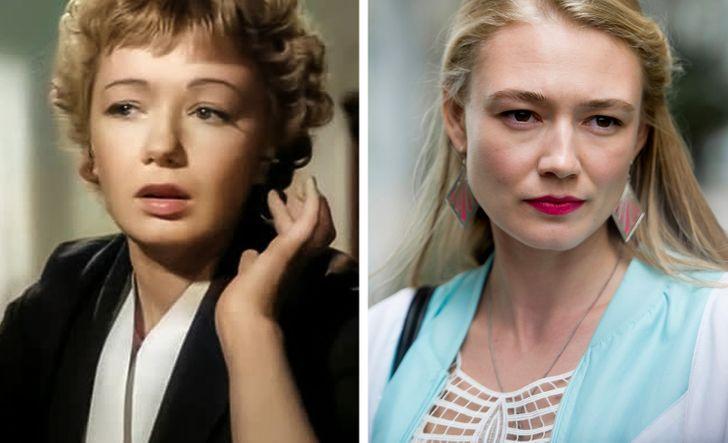 Советские и российские кинозвезды в одинаковом возрасте на снимках