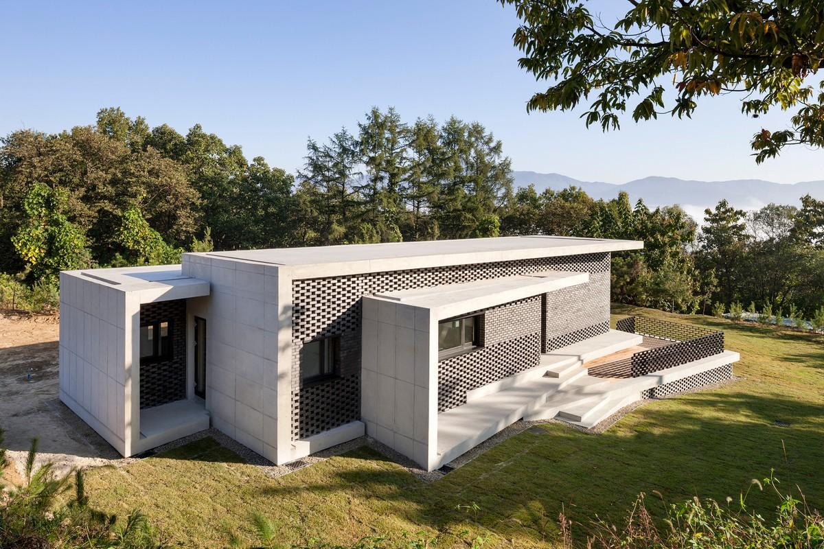 Современный загородный дом в Южной Корее