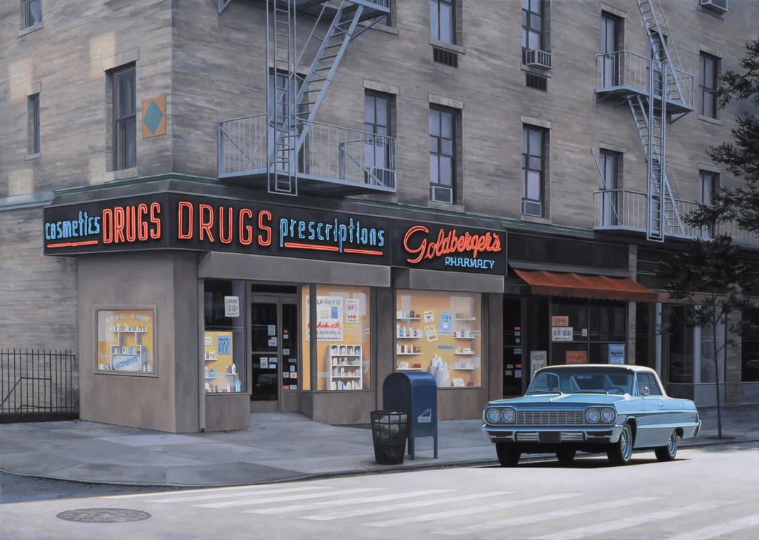Автомобили, дома и общественные здания Калифорнии на картинах Дэнни Хеллера