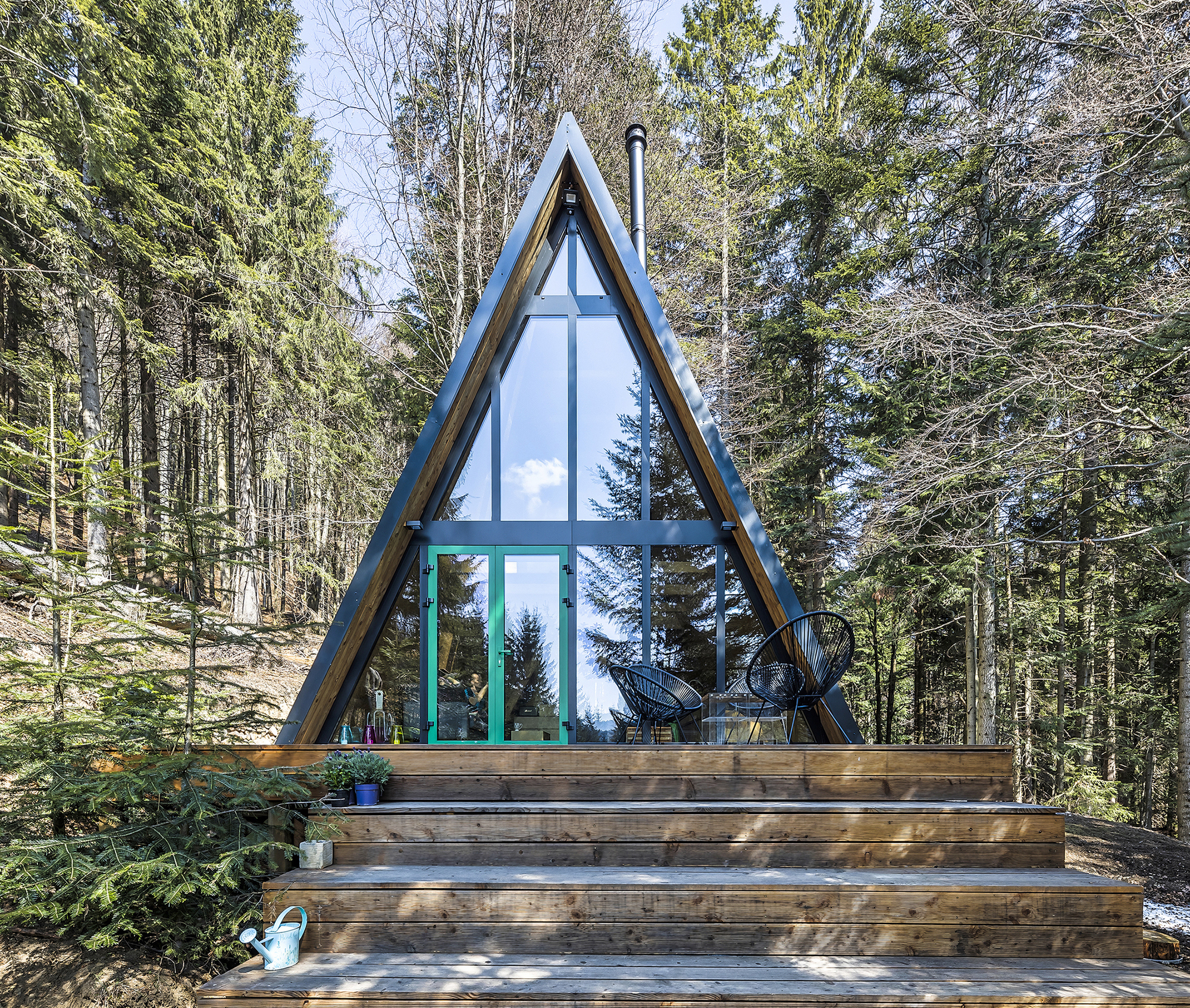 Небольшое шале на живописном лесном склоне в Словакии