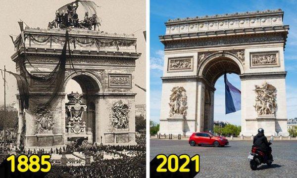 Популярные достопримечательности в прошлом и в наши дни
