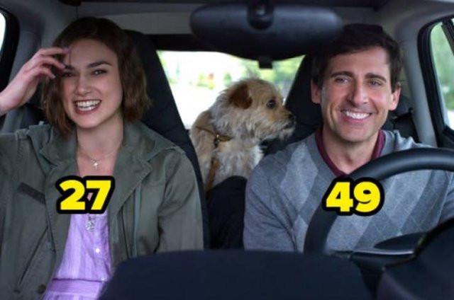 Разница в возрасте между актёрами, которые сыграли пары